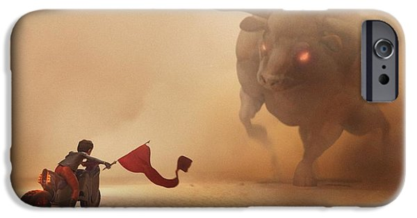 Fight Digital iPhone Cases - Showdown iPhone Case by Jamie Fox