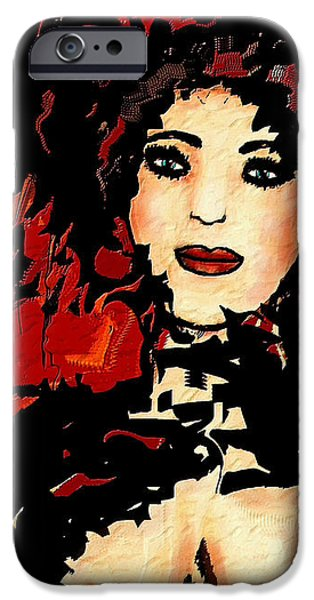 Abstract Expressionism iPhone Cases - Showgirl iPhone Case by Natalie Holland