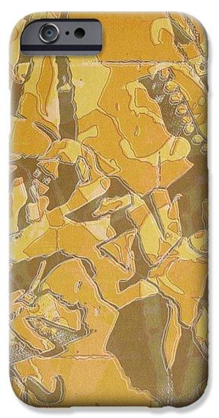 Shredded Notebook Stencil iPhone Case by Ron Bissett