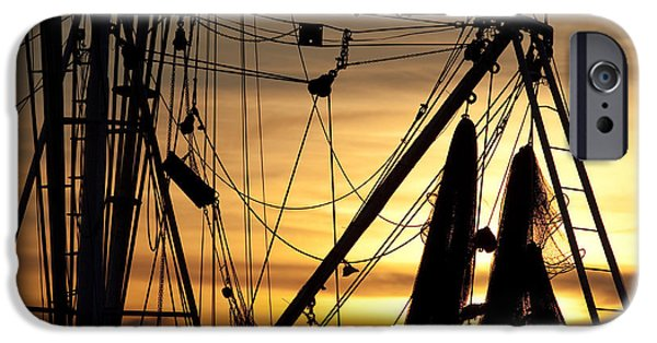 Nets iPhone Cases - Shrimp Boat Rigging iPhone Case by Dustin K Ryan