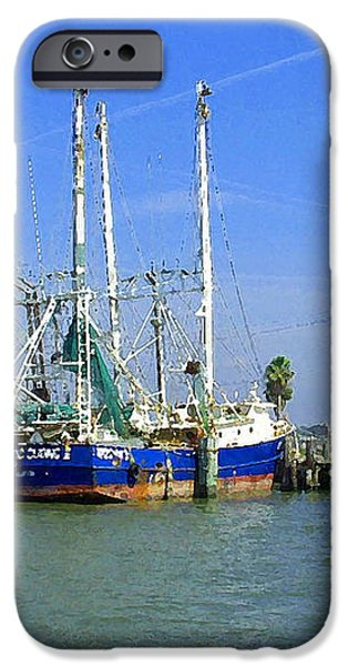 Shrimp Boats Seabrook  iPhone Case by Fred Jinkins