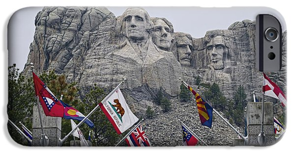 July 4th iPhone Cases - Shrine of Democracy iPhone Case by Lucinda Walter