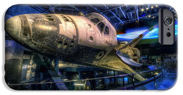Space-craft iPhone Cases - Shuttle Atlantis iPhone Case by Brad Granger