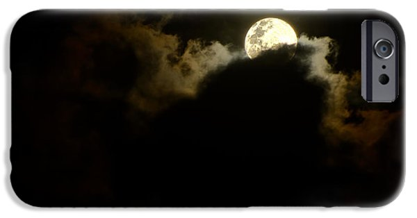 Eerie iPhone Cases - Shy Moon Rising by Kaye Menner iPhone Case by Kaye Menner