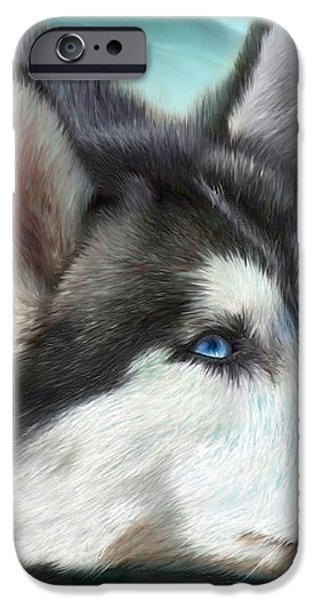 Siberian Husky iPhone Case by Carol Cavalaris