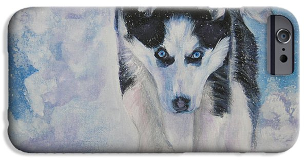 Husky iPhone Cases - Siberian Husky run iPhone Case by Lee Ann Shepard
