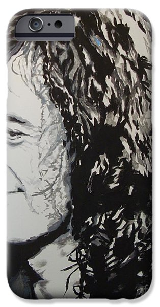 Jimmy Page Paintings iPhone Cases - Sibly iPhone Case by Stuart Engel