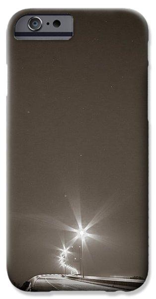 Mist iPhone Cases - Sidney Lanier Bridge under the stars iPhone Case by Chris Bordeleau