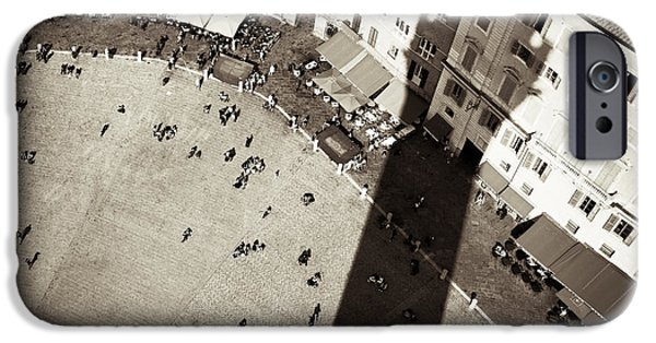 Town iPhone Cases - Siena from Above iPhone Case by Dave Bowman
