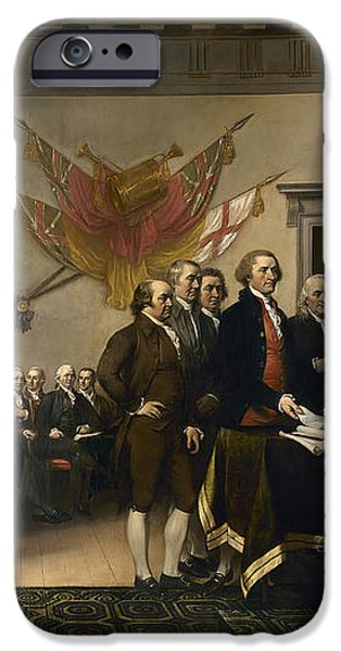 Signing The Declaration Of Independance iPhone Case by War Is Hell Store