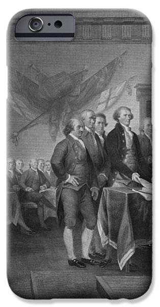 Signing The Declaration of Independence iPhone Case by War Is Hell Store