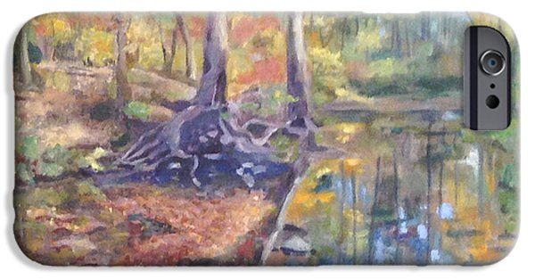 Creek iPhone Cases - Signs of Fall iPhone Case by Becky Christenson