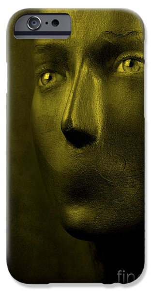 Statue Portrait iPhone Cases - Silence iPhone Case by Clayton Bastiani