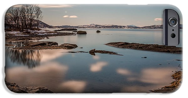 Norway Pyrography iPhone Cases - Silence from the north of Norway iPhone Case by Frantz Robert Konradsen