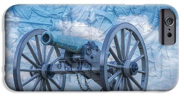 Battle Of Gettysburg Digital iPhone Cases - Silent Cannon Gettysburg Version 2 iPhone Case by Randy Steele