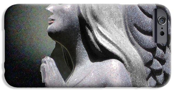 Statue Portrait iPhone Cases - Silent Peace iPhone Case by Lyric Lucas