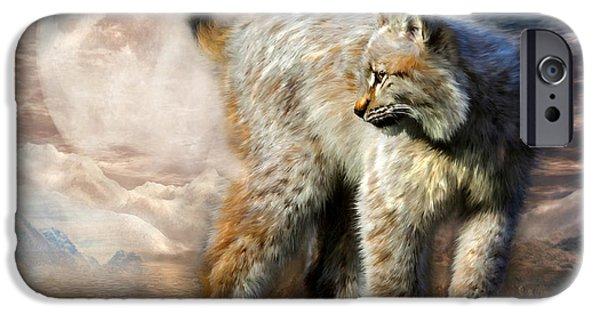 Lynx iPhone Cases - Silent Spirit iPhone Case by Carol Cavalaris