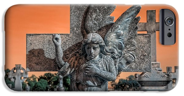 Cemetary iPhone Cases - Silent Vigil iPhone Case by Wayne Sherriff