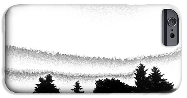 Abstract Expressionist iPhone Cases - Silhouette Trees iPhone Case by Stephen  Killeen