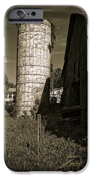 Old Barns iPhone Cases - Silo And Barn iPhone Case by James Ligon