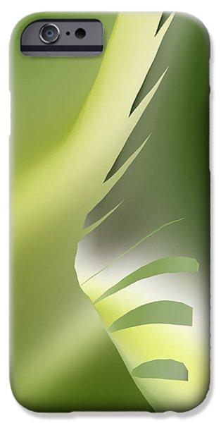 Abstract Digital Tapestries - Textiles iPhone Cases - Silver Peak iPhone Case by Suzi Freeman