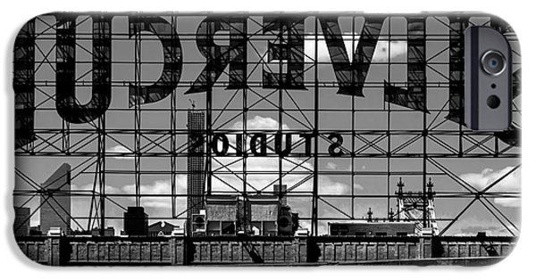 D.c. iPhone Cases - Silvercup Studios Sign Backside iPhone Case by James Aiken