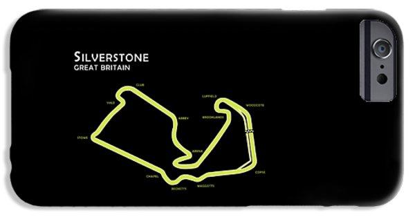 Ayrton Senna iPhone Cases - Silverstone iPhone Case by Mark Rogan