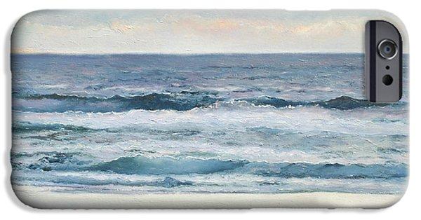 Ocean Art. Beach Decor iPhone Cases - Silvery Morn iPhone Case by Jan Matson