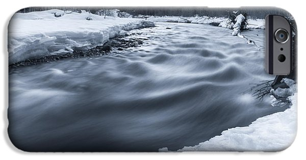 Snowy Brook iPhone Cases - Similkameen River iPhone Case by James Wheeler