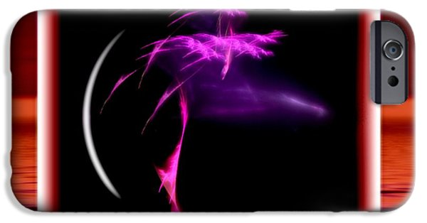 Abstract Digital Art iPhone Cases - Simple Brushwork iPhone Case by Mario Carini