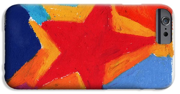 Vivid Pastels iPhone Cases - Simple Star iPhone Case by Stephen Anderson