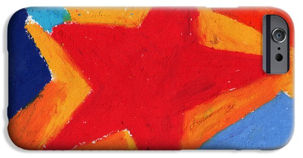 Vivid Pastels iPhone Cases - Simple Star-Straight Edge iPhone Case by Stephen Anderson