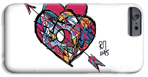 Concept Digital Art iPhone Cases - Simply love iPhone Case by Ricardo Mester