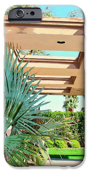 Old Blue Eyes iPhone Cases - SINATRA PATIO Palm Springs iPhone Case by William Dey