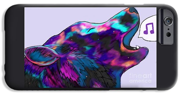 Dogs iPhone Cases - Sing iPhone Case by Destiny Nowicki