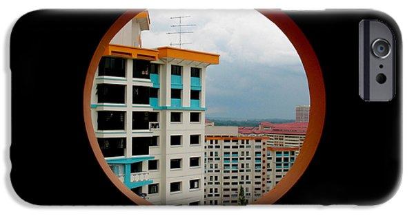 Freedmen iPhone Cases - Singapore Apartments iPhone Case by Jason Freedman
