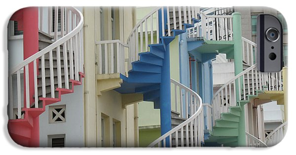 Freedmen iPhone Cases - Singapore Spiral Stairs iPhone Case by Jason Freedman