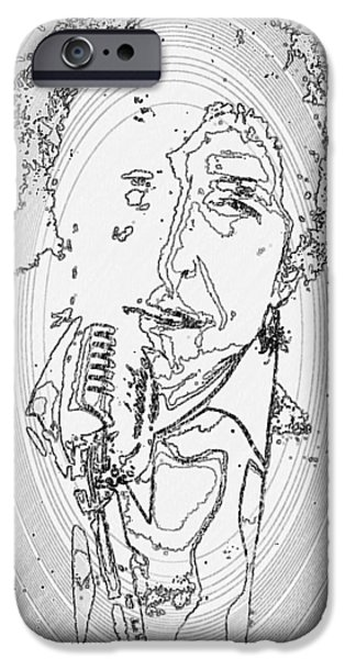 Multimedia iPhone Cases - Singer iPhone Case by Ann Hamlin
