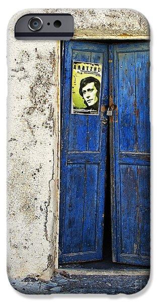 Entrance Door Photographs iPhone Cases - Singin The Blues iPhone Case by Meirion Matthias