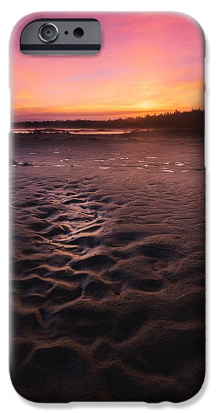 Fog Mist iPhone Cases - Singing Sands Sunset iPhone Case by Cale Best