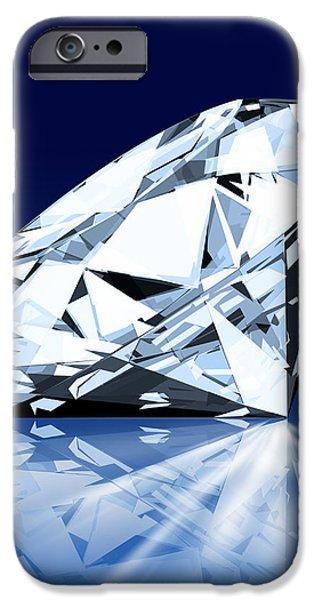 single blue diamond iPhone Case by Setsiri Silapasuwanchai
