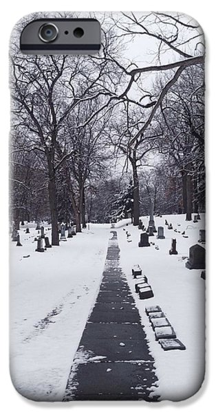 Headstones iPhone Cases - Single File iPhone Case by 2141 Photography