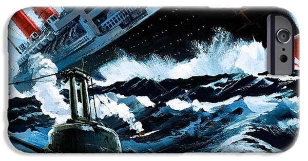 Sink iPhone Cases - Sinking of the Lusitania iPhone Case by English School