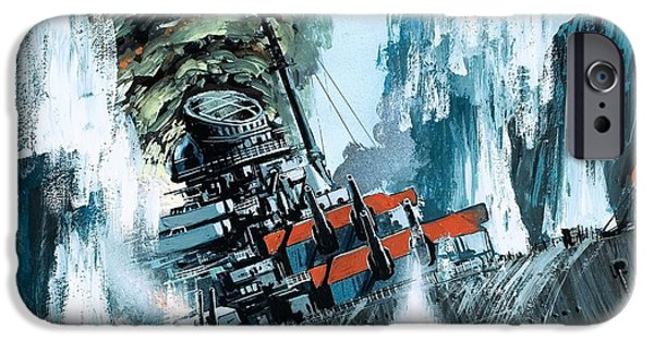 Bombing iPhone Cases - Sinking of the Tirpitz iPhone Case by Mike Tregenza