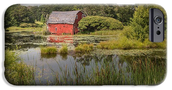 Design iPhone Cases - Sinking Red Barn iPhone Case by Patti Deters