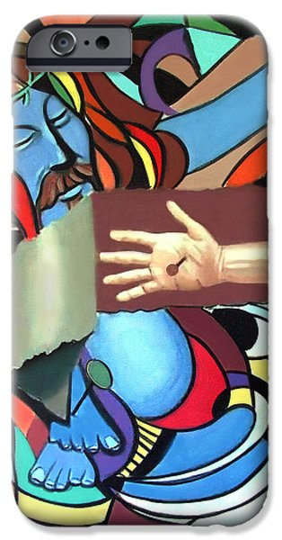 Stretched Canvas iPhone Cases - Sins Of The World iPhone Case by Anthony Falbo