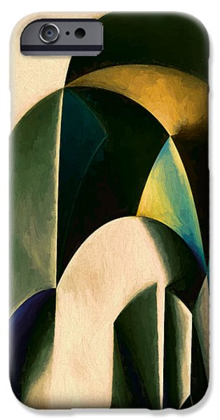 Abstract Forms iPhone Cases - Sinuosity One iPhone Case by John K Woodruff