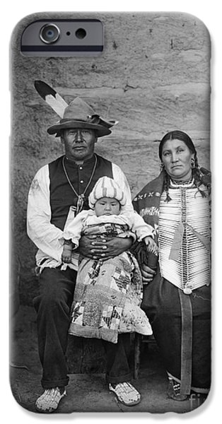 Breastplate iPhone Cases - SIOUX FAMILY, c1908 iPhone Case by Granger