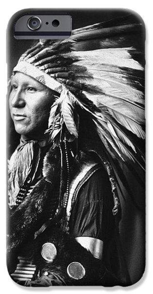 Breastplate iPhone Cases - SIOUX NATIVE AMERICAN, c1898 iPhone Case by Granger
