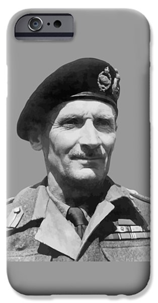 Montgomery iPhone Cases - Sir Bernard Law Montgomery  iPhone Case by War Is Hell Store